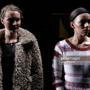 NEW YORK, NEW YORK - FEBRUARY 12: Models prepare backstage during the The CAAFD Emerging Designer Showcase at Industria Studios on February 12, 2019 in New York City. (Photo by John Lamparski/Getty Images)